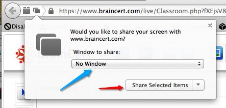Firefox Screen Share