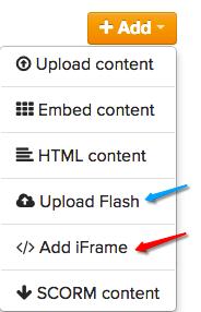 Upload content