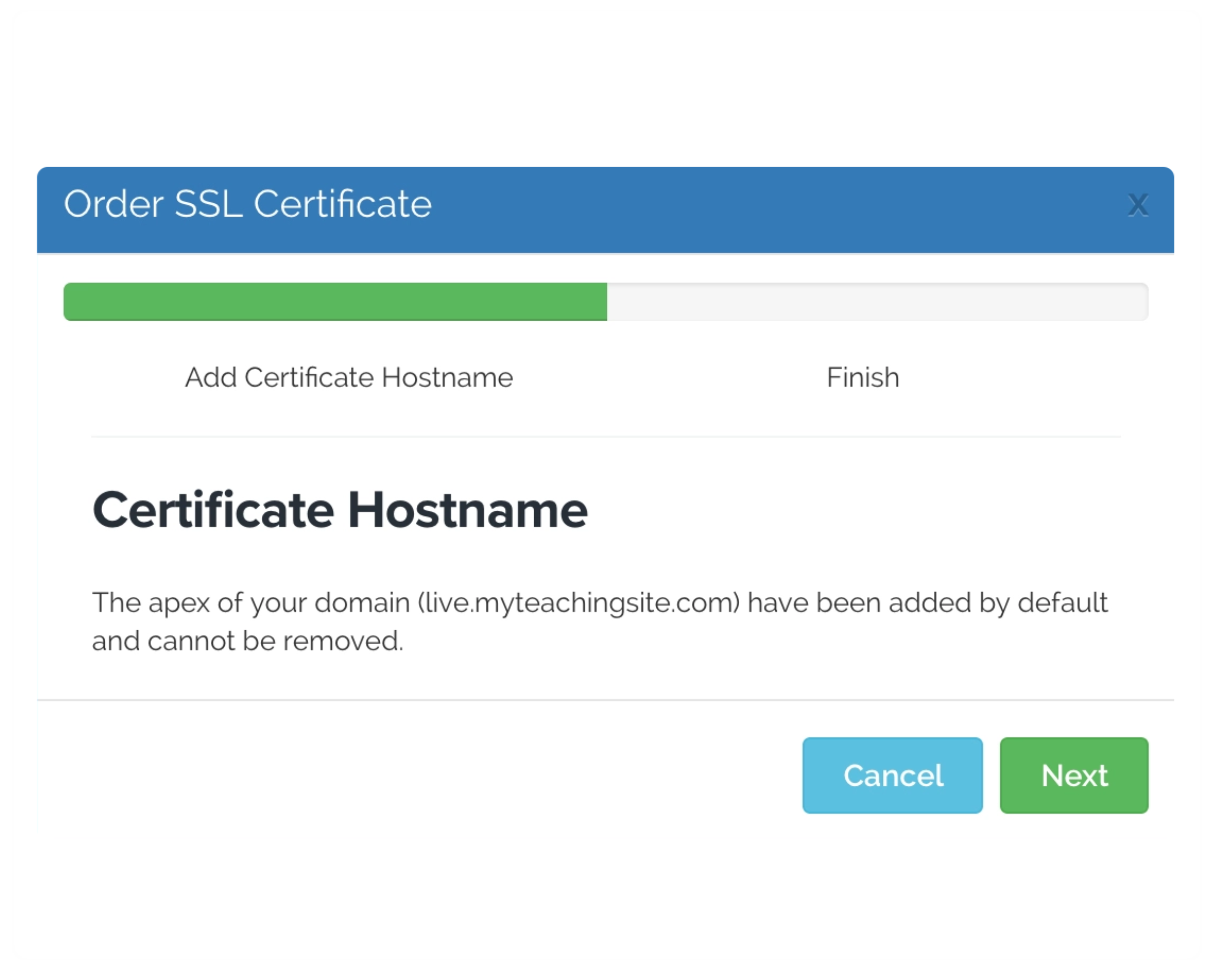 Custom hostname
