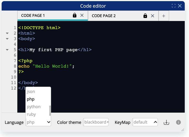 Code Editor PHP