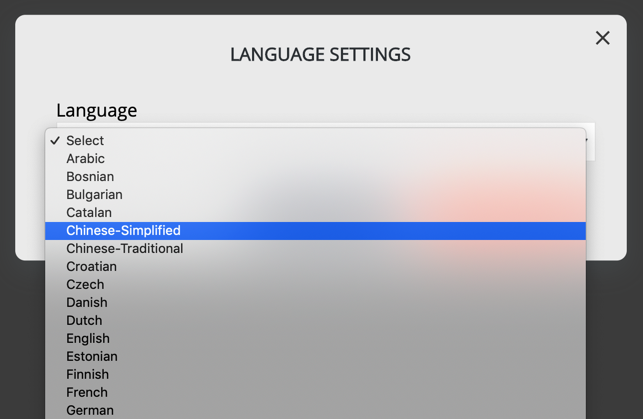 multi language dropdown